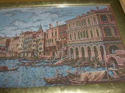 Pazar - Velencét ábrázoló - szövött kép.
