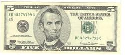 5 dollár 1999 USA
