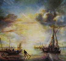 Jan van de Cappelle: Nyugodt tenger