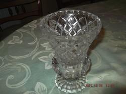 Kristály váza 20 cm