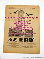 1922 január 15 AZ ERŐ RÉGI EREDETI MAGYAR ÚJSÁG 1411