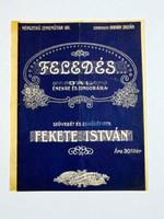 FELEDÉS FEKETE ISTVÁN RÉGI EREDETI KOTTA 1578