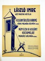 LÁSZLÓ IMRE 2 MAGYAR NÓTÁJA RÉGI EREDETI KOTTA 1581