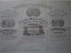 Johann Maria Farina levél 1870.