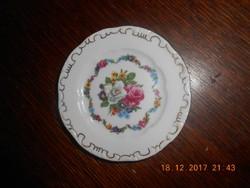 Régi Zsolnay porcelán minitányér. 8,5 cm. Hibátlan