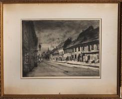 Élesdy István: Utca a Budai Várban (Fortuna utca)
