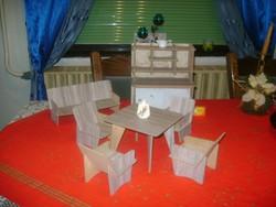 Retro bababútor, babaszoba bútor - hét darabos