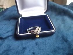 Ezüst köves gyűrű szép kis fazon 925, fémjel