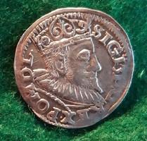 III. Zsigmond 3 garas 1594 IF. RRR!  Ezüst 2.4 g.