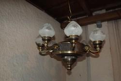 Antik hatalmas 8ágú réz csillár lámpa eladó