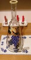 Gyönyörű boros butélia 35 cm