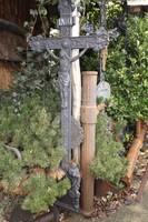 Antik 150 éves Ritka öntöttvas kereszt feszület korpusz faluszéli 160cm
