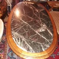 Barok nagy márvány dohányzóasztal 162x87x54cm