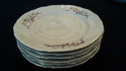 Wakbrzych 6db porcelán lapos tányér