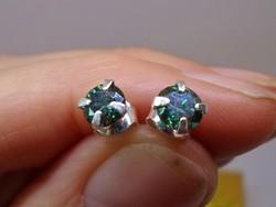 Szép valódi 1,2ct  Moissanite gyémántos ezüstfülbevaló 3nap!