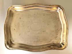 Régi PFG jelzett alpakka tálca 28,5 cm