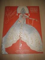 A Cirkuszhercegnő , Kálmán Imrétől 1926.   kotta  24x31 cm 75 oldal.