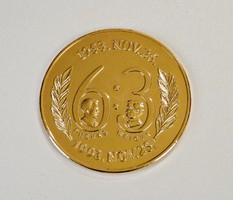 Magyarország - Anglia  6:3 - Aranyozott emlékérme 1993