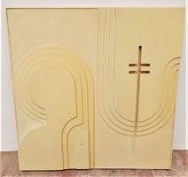 Deim Pál (1932-2016) Kolostor c. fali relief Nagyon ritka !!!! EREDETI GARANCIÁVAL !!!