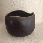 K.É. kerámia kaspó, jelzett - ceramic bowl, signed (65)