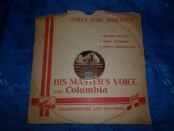 Antik gramofon lemez his masters voice