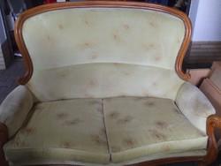 Barok kétüléses szlaon szofa egy fotel