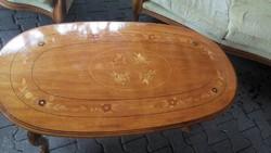 Barok intarziás asztal