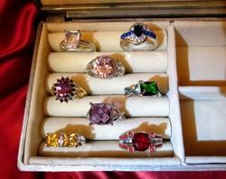BIZSU koktél  gyűrűk 8-as méret 8 darab