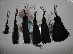 Fekete selyem lámpakapcsoló bolyt