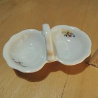 Virágmintás Zsolnay porcelán fűszertartó