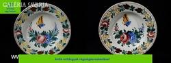 R407 Antik porcelán falitányér párban 2db egyforma