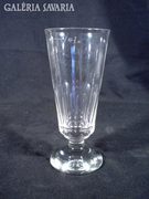 S641 Antik talpas csiszoltüveg pohár 1900 körüli