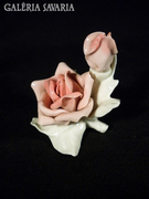 U123 Régi porcelán ENS rózsa pár