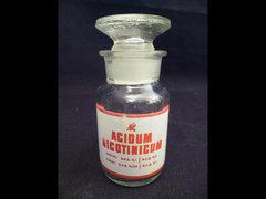 X983 C4 Régi patika üveg ACIDUM NICOTINICUM