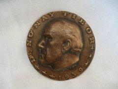 0119 D2 Metky Ödön bronz plakett Dr. Nónay Tibor