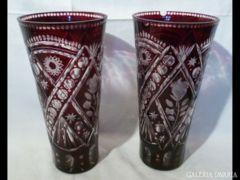 2026 G5 Antik bíbor színű csiszolt váza pár 30 cm
