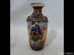 2131 I3 Antik kis méretű SATSUMA Japán váza 14 cm
