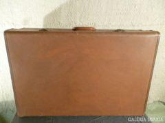 2437 T3 Antik marhabőr angol CHENEY utazó koffer 1