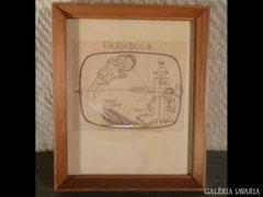 1778 T3 Kaján Tibor karikatúra Parabola műsorhoz