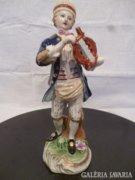 Y410 G1 Antik kardos Meisseni porcelán figura
