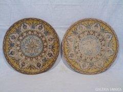 3088 B2 Antik terrakotta tál 2 db jelzett