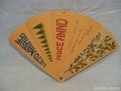 4379 L3 Antik milánói papír legyező