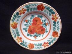 3278 L2 Antik hollóházi porcelán falitányér