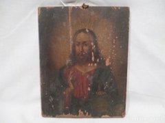 3370 L0 Antik ikon Jézus képmása