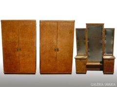 0235 Antik Lingel hálószoba garnitúra 3 db-os