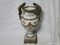 6043 Hatalmas méretű Wong Lee fajansz váza