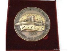 5912 Jelzett bronzplakett díszdobozban MGYOSZ