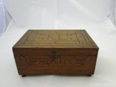 6155 I. világháborús emlék hadifogoly munka doboz