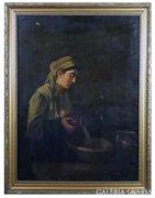 6231 Szüle Péter mosakodni készülő nő