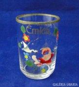 7897 Antik búcsúi emlék 1928 üveg pohár